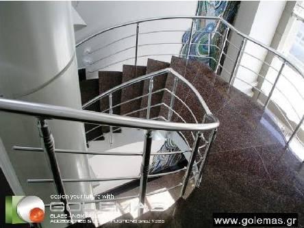 Αλουμινίου Σκάλες Τύπου ΙΝΟΧ